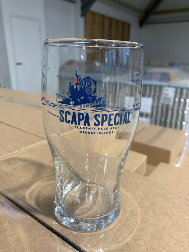 Scapa Special tulip pint glass 2020 (nucleated)