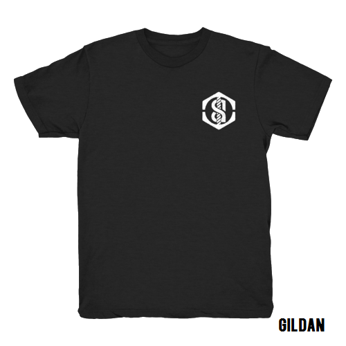 *SALE* Gildan black logo t-shirt