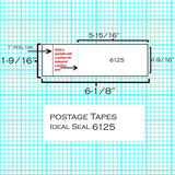 (PT1N12/PT1H12) - Single Tape Self-Adhesive (1200 Strips, 1200 Labels) (6125-4)