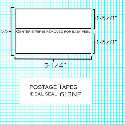 193) - FP Double Strip Postage Tape Sheets (613NP) (300