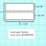 (BT1N/PC2H) - Neopost/Hasler Postage Sheets (50pk) (613NP-50)