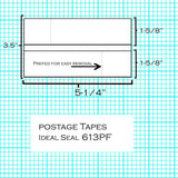 (Item #620-9) Postage Tape Sheets for Mailstation, DM100 Series and SendPro® C Series (613PF)