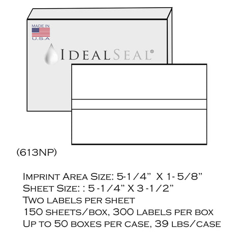 (193) - FP Double Strip Postage Tape Sheets (613NP) (300 Labels)