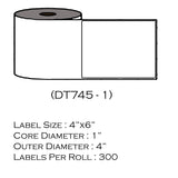 "4"" x 6"" Pitney Bowes 745-1 (300 Labels/Roll)"