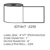 "4"" x 7"" (225 Labels/Roll)"