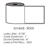 "4"" x 5"" (300 Labels/Roll)"