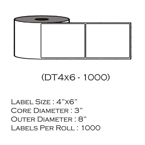 "4"" x 6"" (1000 Labels/Roll) Pitney Bowes 674-8"
