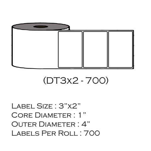 "3"" x 2"" (700 Labels/Roll)"