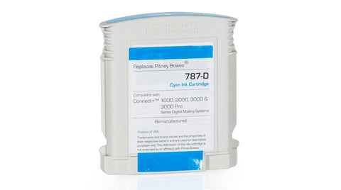 (Item # 787-D) Cyan Ink Cartridge (Standard) for SendPro™ P / Connect+® Series