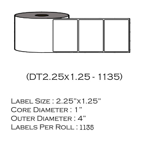 "2.25"" x 1.25"" (1135 Labels/Roll)"