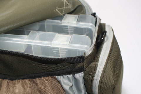 Large Softside Tackle Bag with utility boxes - CLEARANCE