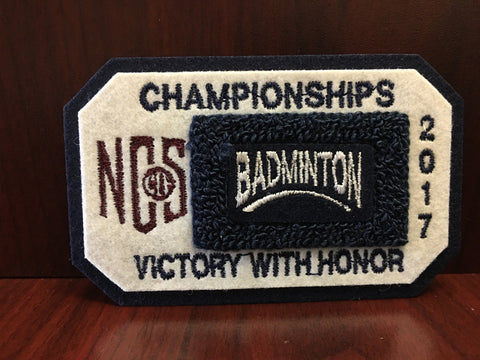 Badminton Championship Patch