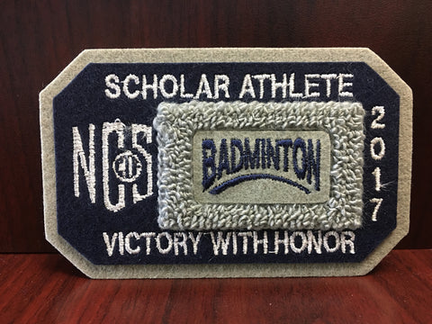 Badminton Scholar Athlete Patch