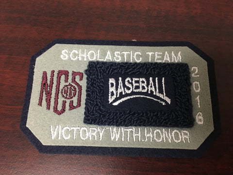 Baseball Scholastic Team Patch