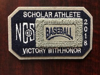 Baseball Scholar Athlete Patch