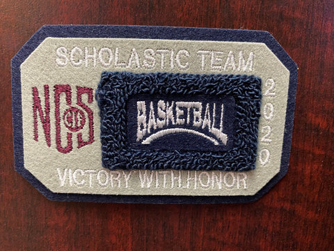 Basketball Scholastic Team Patch