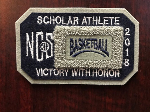 Basketball Scholar Athlete Patch