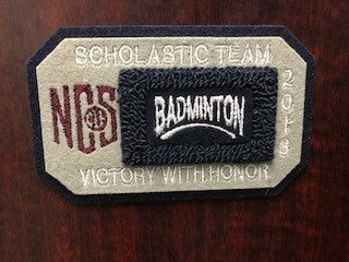 Badminton Scholastic Team Patch