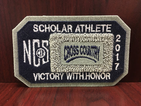 Cross Country Scholar Athlete Patch