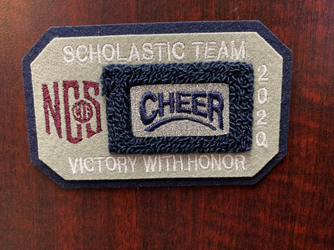Cheer Scholastic Team Patch