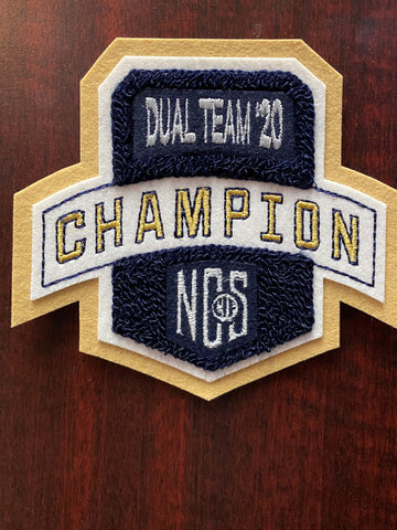 Dual Team Wrestling Champion Patch