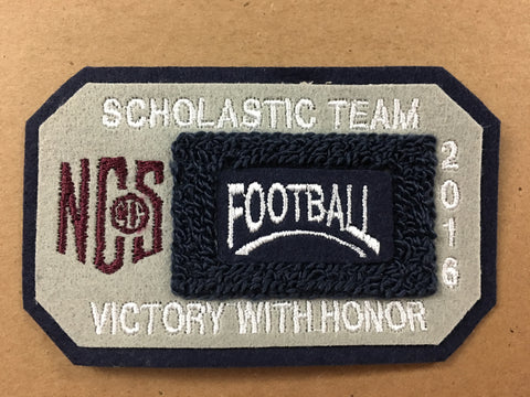 Football Scholastic Team Patch