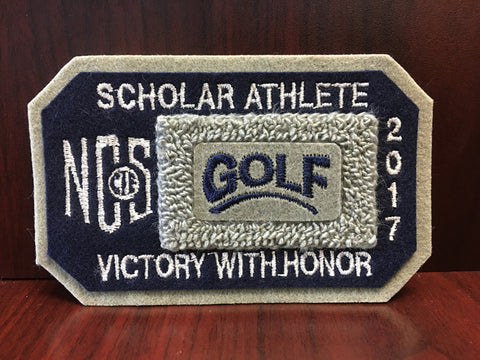 Golf Scholar Athlete Patch