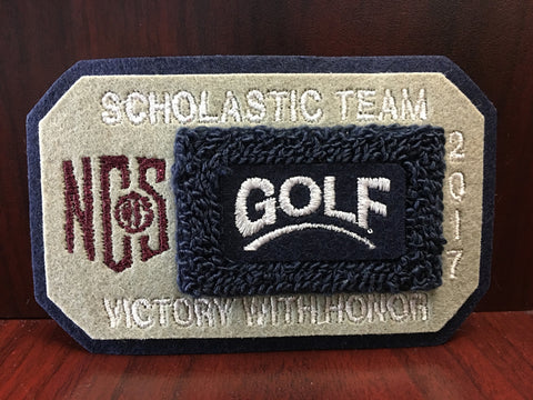 Golf Scholastic Team Patch