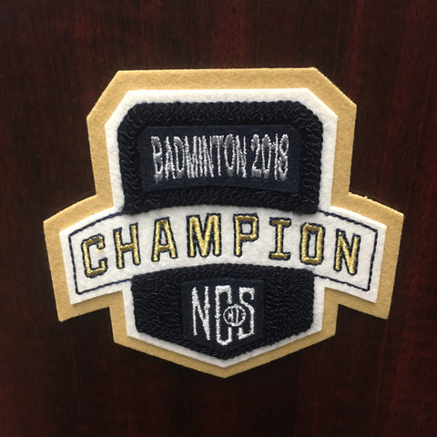Badminton Champion Patch