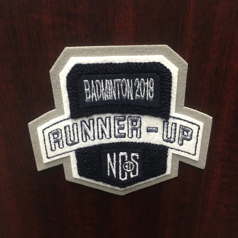 Badminton Runner-Up Patch