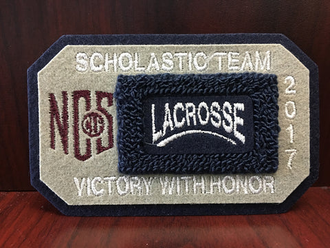 Lacrosse Scholastic Team Patch