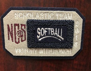 Softball Scholastic Team Patch