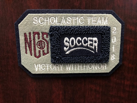 Soccer Scholastic Team Patch
