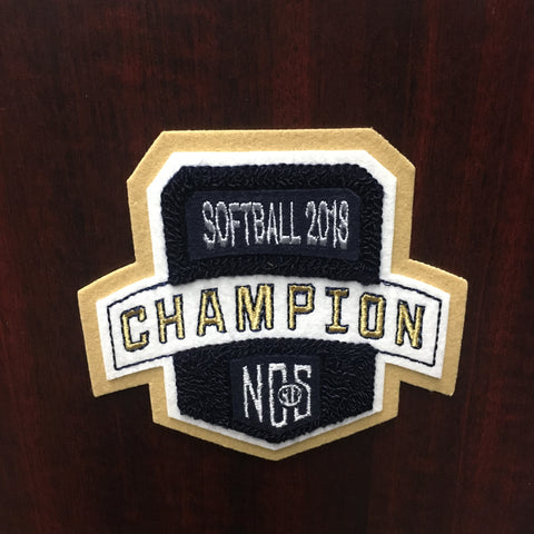 Softball Champion Patch