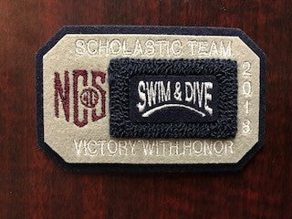 Swimming & Diving Scholastic Team Patch