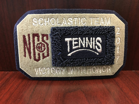 Tennis Scholastic Team Patch