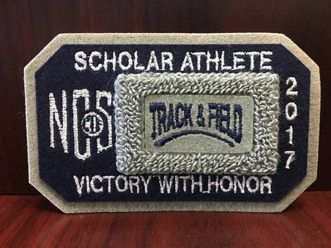 Track and Field Scholar Athlete Patch
