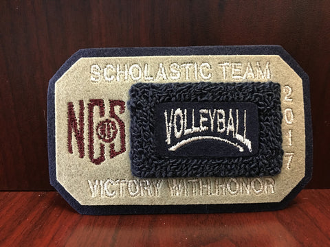 Volleyball Scholastic Team Patch