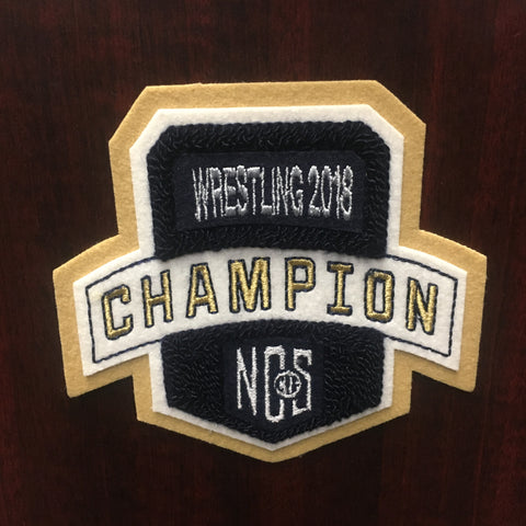 Wrestling Champion Patch