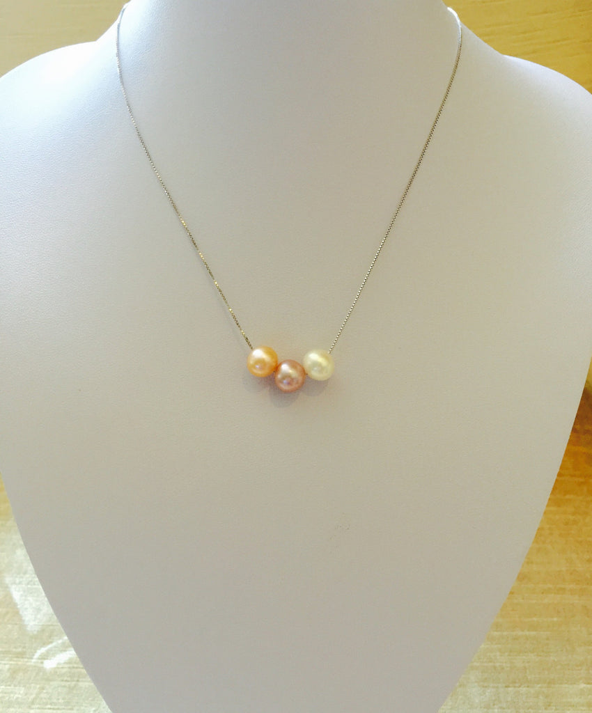 worters claudette pink blush by original necklace pearl in pendant claudetteworters initial product silver with soft