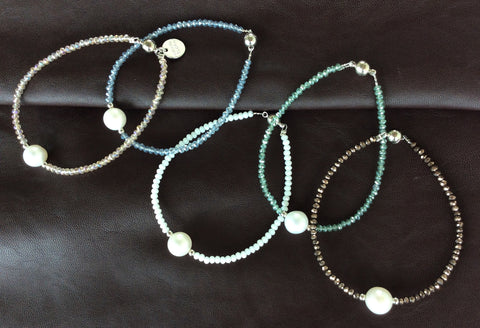 Handmade Crystal and Pearl Bracelet,Bracelets,Simple Bracelet