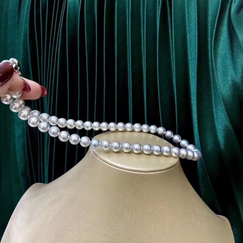 Genuine AA Quality White Pearl Necklace - Classic Elegance