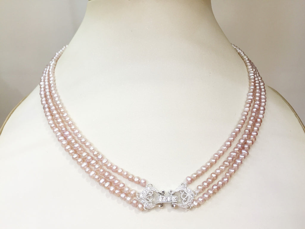 pearl necklace white akoya hanadama