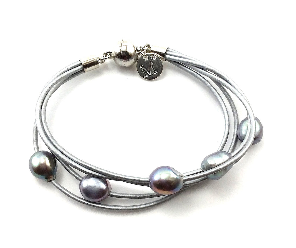 charms products multi tone bijoux dome two square hammered bracelet strand