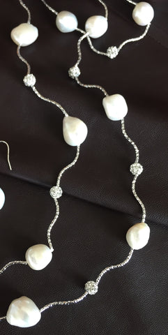Tres Chic Handmade Baroque Pearl Necklace