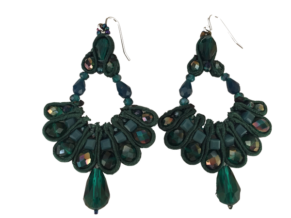 Designer Handmade Earrings,Statement Earrings,Chandelier Earrings