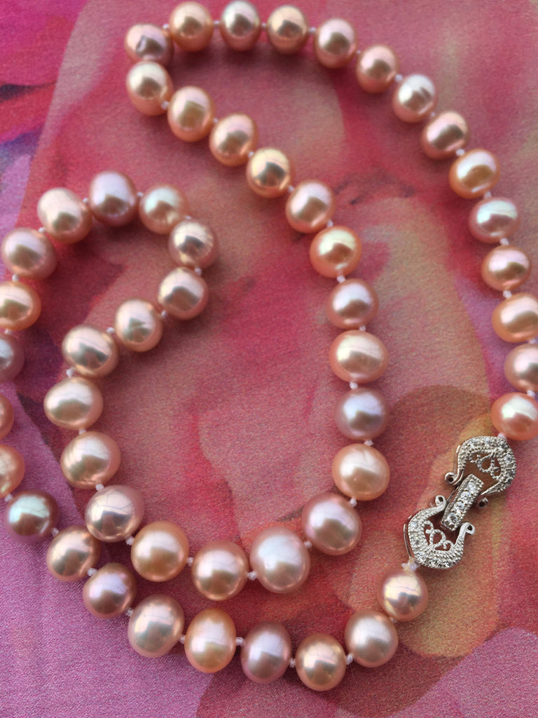 AAA Quality Multicolor Pearl Necklace,genuine pearl strand,natural pearl necklace,real pearl necklace