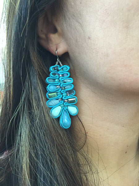 Handmade Turquoise Statement Earrings,Fashion Earrings