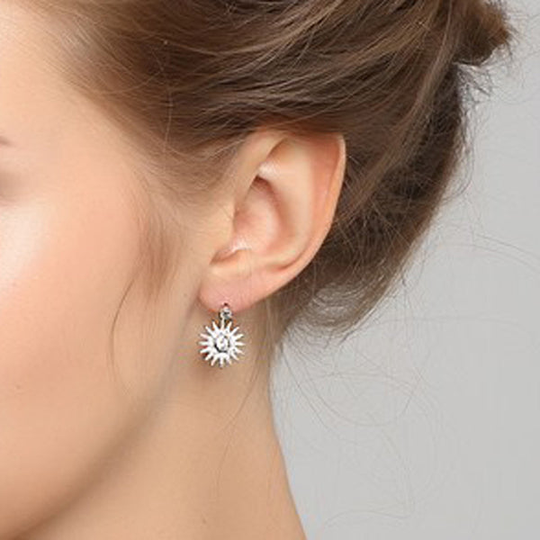 Silver Sun Earrings - MonyaFlora.com Poetic Nature-Inspired Jewelry and Fashion Accessories