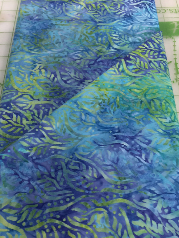 #4005 Batik - Green and Blue Fabric